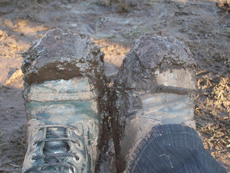 The best picture of muddy boots I've seen so far...