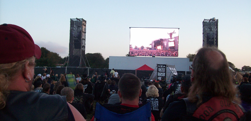 Watching Wacken in Wacken...