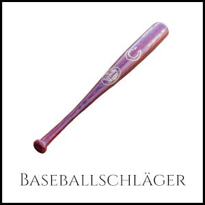 Bild eines Baseballschlägers mit entsprechender Unterschrift