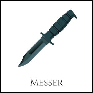 Bild eines (Jagd)Messers mit entsprechender Unterschrift