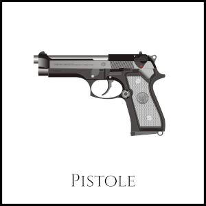 Bild einer Pistole mit entsprechender Unterschrift